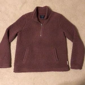 Abercrombie & Fitch Mauve Sherpa 1/4 Zip